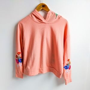 Almost Famous Floral Embrodered Hoodie